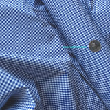 Cotton Shirting / Gingham / Blue