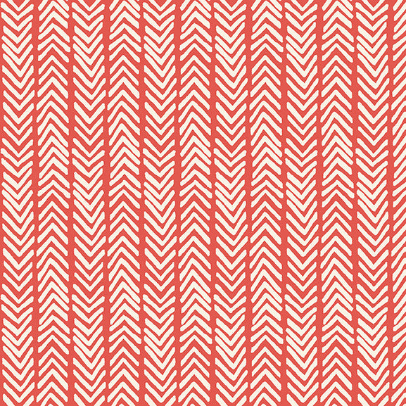 Herringbone in Warm Red