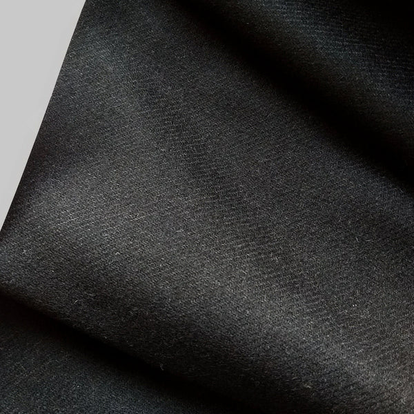 Wool Flannel Twill in Black