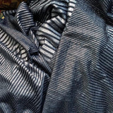 Metallic Print Knit in Black Silver