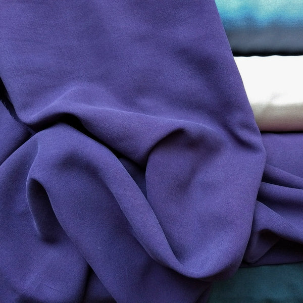 Enzyme Washed Tencel Twill in Plum
