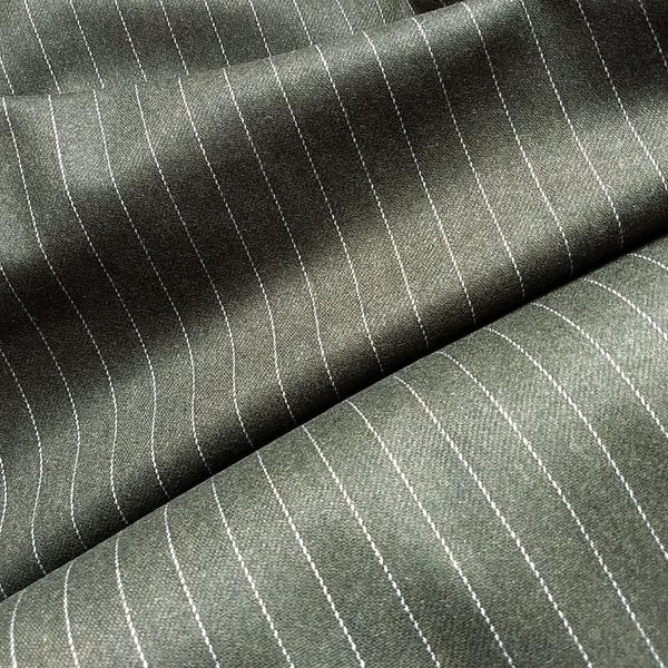 Wool Pinstripe Suiting / Hazel