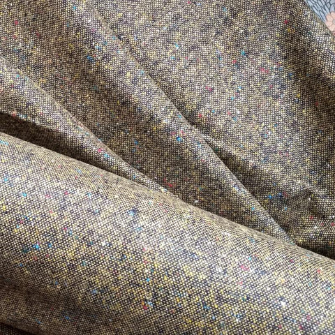 Wool Tweed Suiting / Gold Fleck