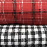 Wool Flannel Suiting / Black Check