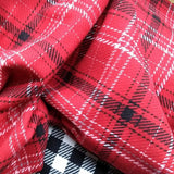 Wool Flannel Suiting / Red Plaid
