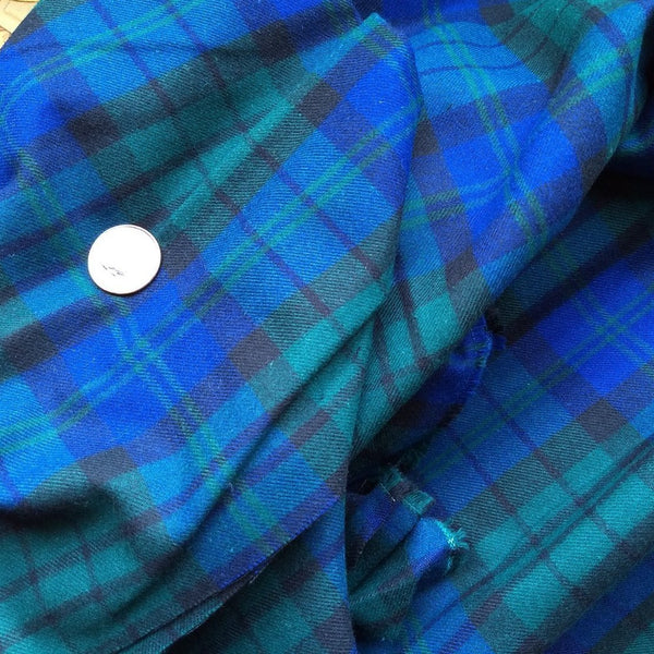 Plaid Cotton Flannel / Blue