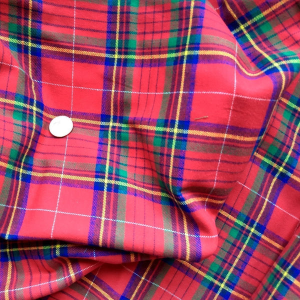 Plaid Cotton Flannel / Red
