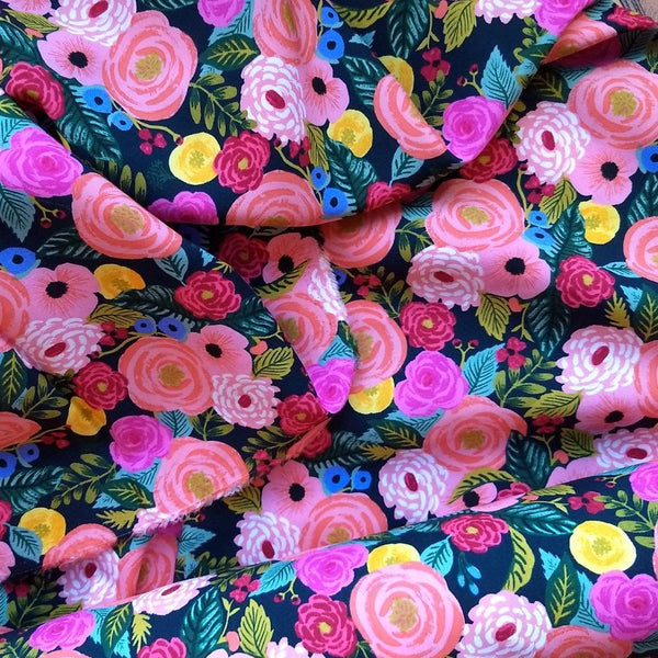 Rayon Challis / Juliet Rose / Navy