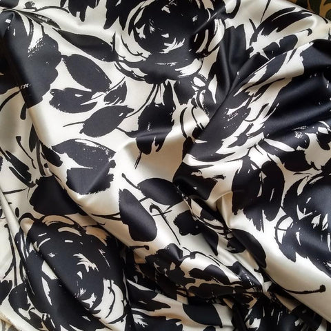 Stretch Satin / Giant French Floral