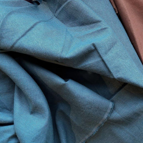 Stretch Linen Viscose / Carolina Blue