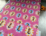 Cotton Print / Frida Wallpaper / Fuchsia