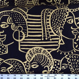 Cotton Print / Golden Lady / Black