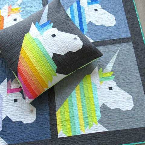 Lisa the Unicorn Quilt + Pillow