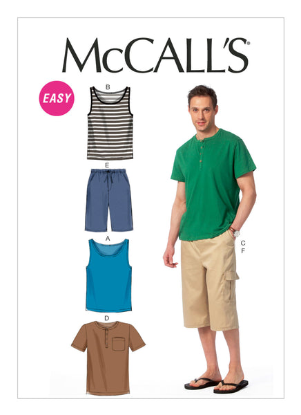 McCalls 6973 / Mens Tank + Henley + Shorts