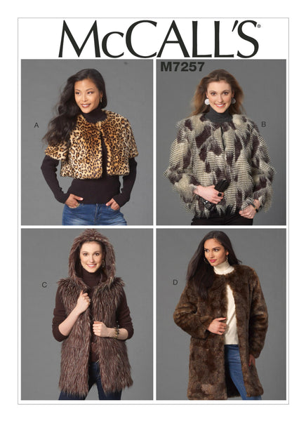McCalls 7257 / Misses Coats + Jacket + Vest + Shrug