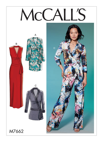 McCalls 7662 / Misses Wrap Dress + Romper + Jumpsuits