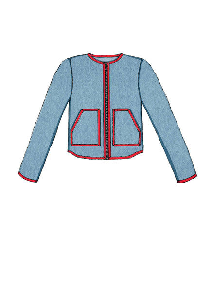 McCalls 7695 / Misses Puffer Vest + Jackets