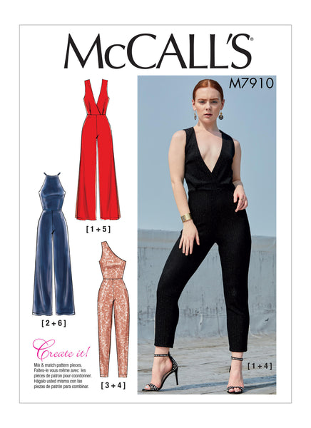McCalls 7910 / Misses Jumpsuits