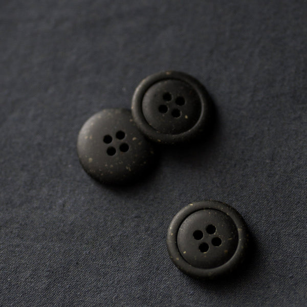 Recycled Resin Buttons / 20mm / Nero
