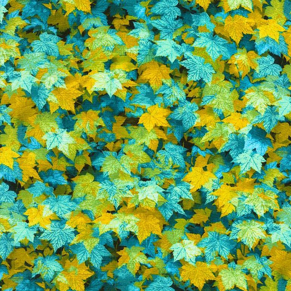 Tossed Leaves in Blue