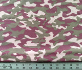 Bamboo French Terry / Camo Pink
