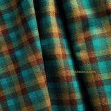 Yarn Dyed Flannel / Aqua Brass Plaid