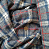 Yarn Dyed Flannel / Blue Red Plaid
