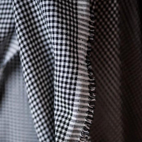 Tencel Seersucker / Gingham Black