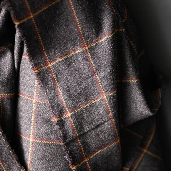 Wool Suiting / Damson Check