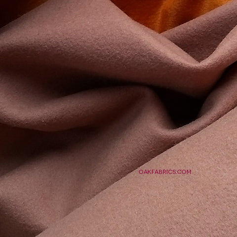 Wool Velvet Coating / Smokey Rose