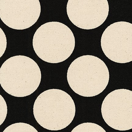 Big Polka Dot Canvas / Black