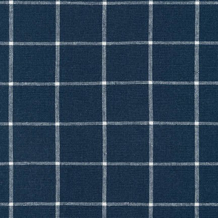 Yarn Dyed Plaid / Indigo White