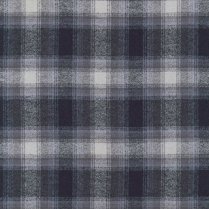 Mammoth Flannel in Grey Plaid