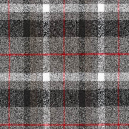 Mammoth Flannel in Smoke Grey Plaid
