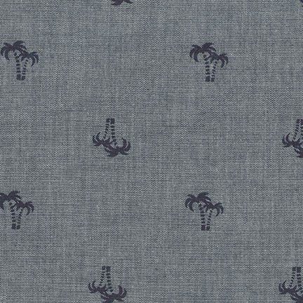 Chambray Blvd Prints in Palm Trees