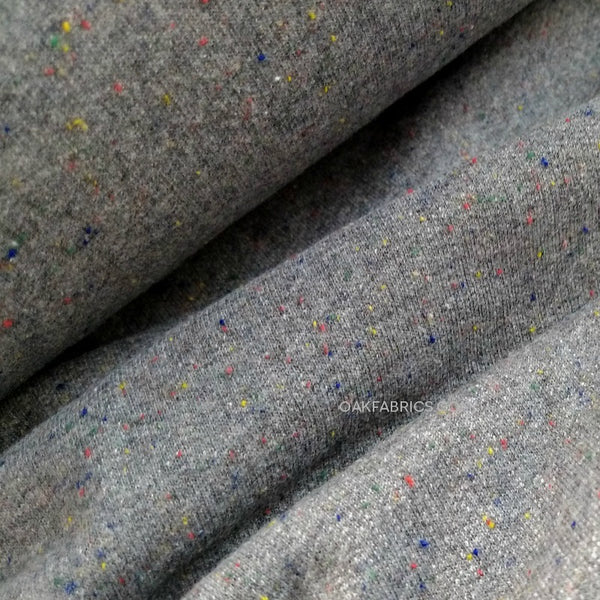 French Terry Knit / Grey Rainbow Speckle