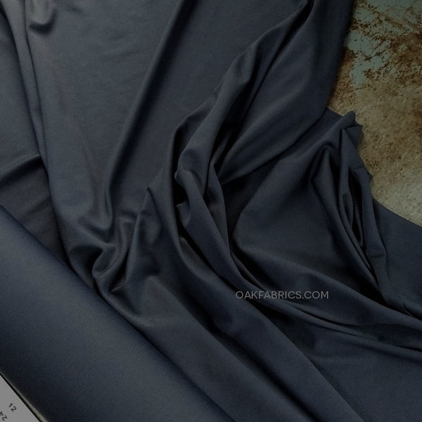 Nylon Spandex Swim Knit / Matte Black