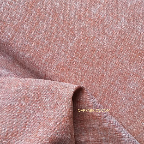 Yarn Dyed Linen Rayon Crossweave / Terracotta