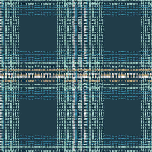 Wafting Plaid Marked Voile