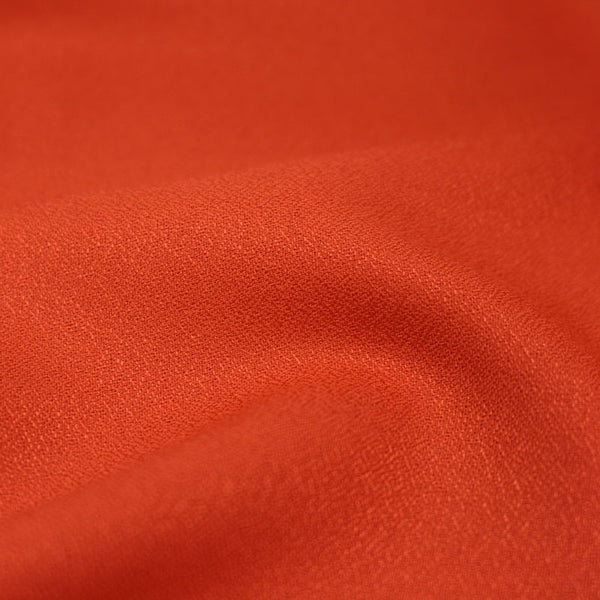 Viscose Crepe in Tangerine