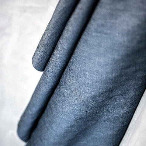 Cotton Chambray in Dark Denim