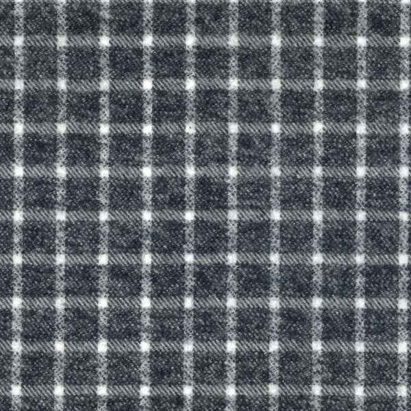 Yarn Dyed Flannel in Navy Check