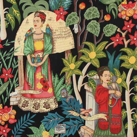 Cotton Print / Frida's Garden / Black