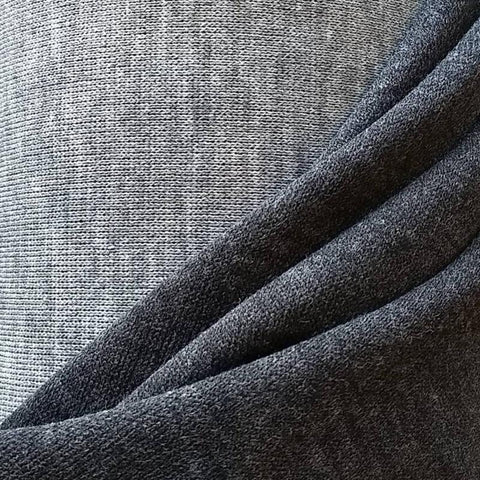 Reversible Double Knit / Heathered Dark Light Grey