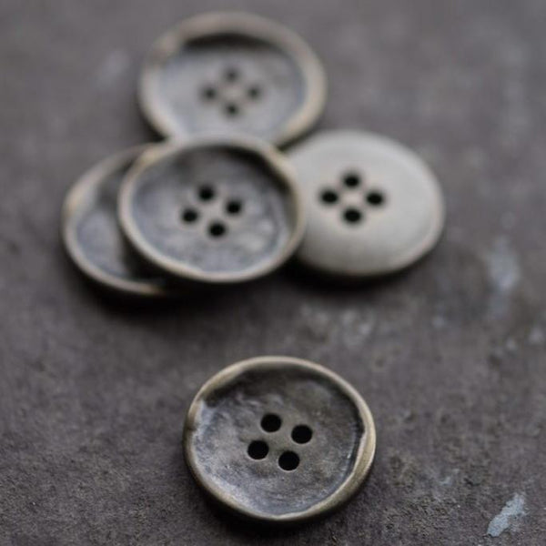 Stamped Metal Buttons / 15mm or 20mm