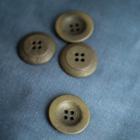 Corozo Buttons 22mm / Set of 6 / 4 Colors Available