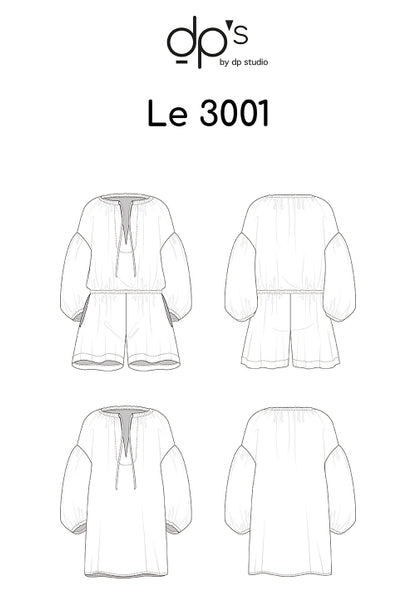 3001 / Loose Playsuit + Tunic