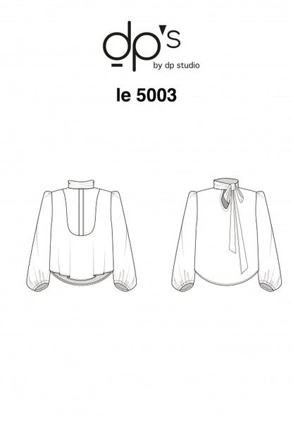 5003 / Tied Collar + Dickey Blouse