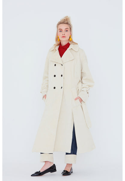 700 / Double-Breasted Trench Coat