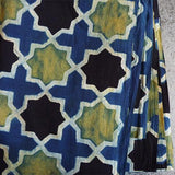 Indian Hand Block Cotton / Blue Jali